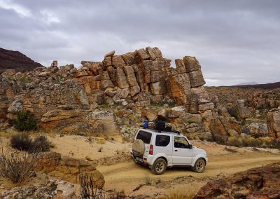Tread Lite 4x4 hire in the Cederberg Mountains