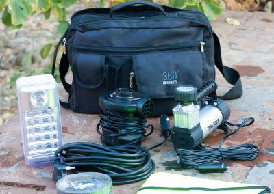 Electronics bag included in Tread Lite 4x4 hire gear