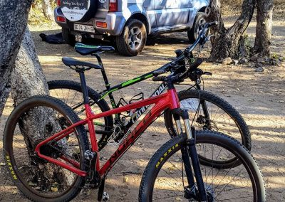 Mountain bike camping vacation with 4x4 hire