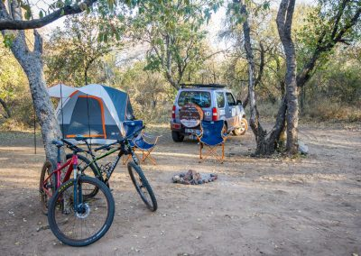 Camping and mountain biking in South Africa
