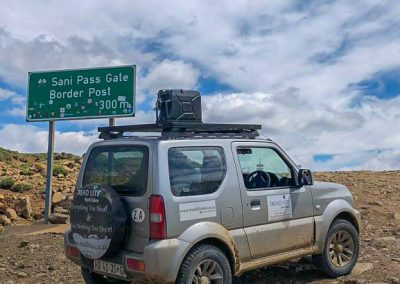 Rent a fully kitted-out Suzuki Jimny 4x4 off-road vehicle