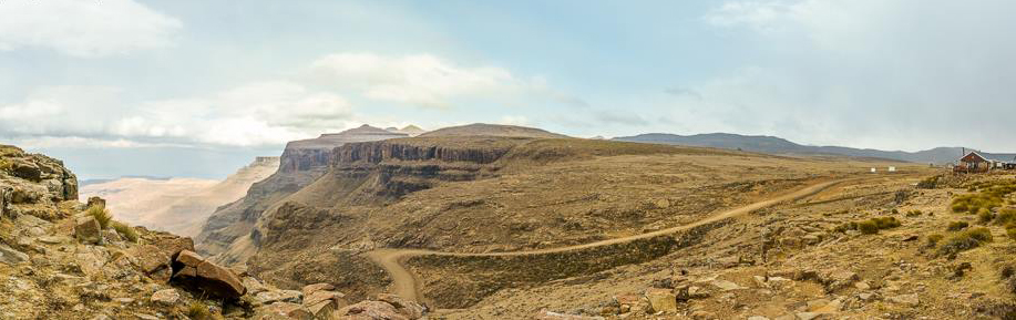 Sani Pass from the summit in Lesotho