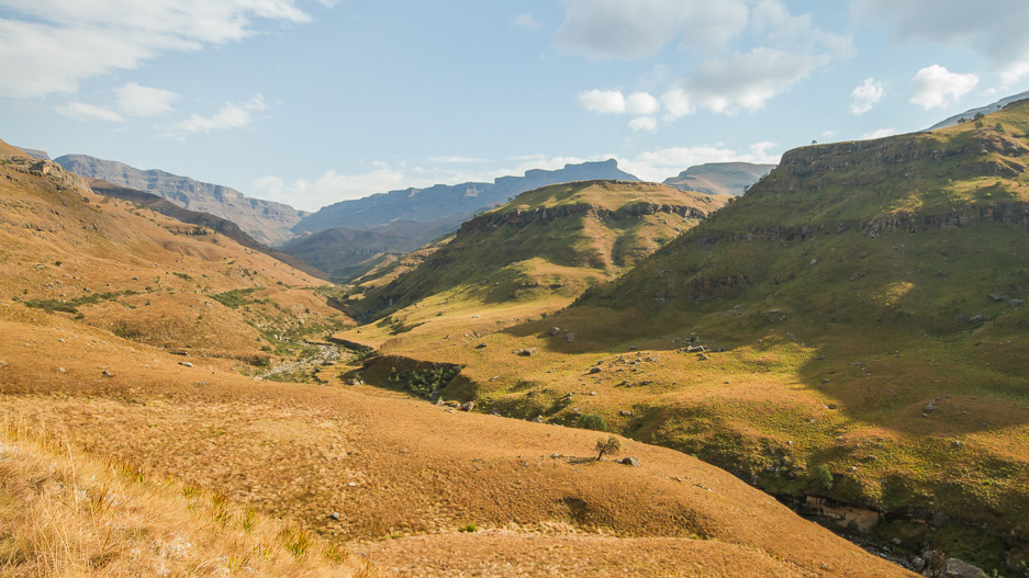 The Drakensberg Mountains in South Africa
