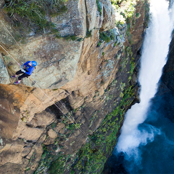 Maletsunyane Falls on a Tread Lite 4x4 hire adventure to Semonkong Lodge