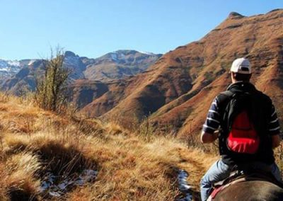 Horse back riding with Maliba Lodge in Lesotho