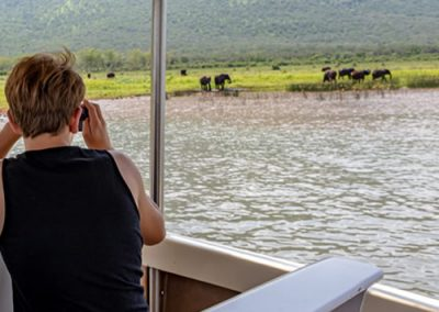 Boating safari in the Pongola Game Reserve with Tread Lite 4x4 hire