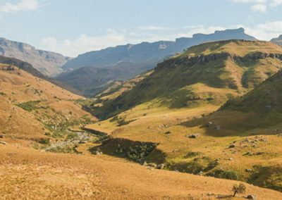 Scaling Sani Pass with Tread Lite 4x4 hire