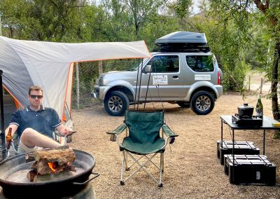 Minimalist camping with Tread Lite 4x4 hire